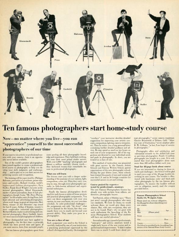 Famous Photographers Course, 1964